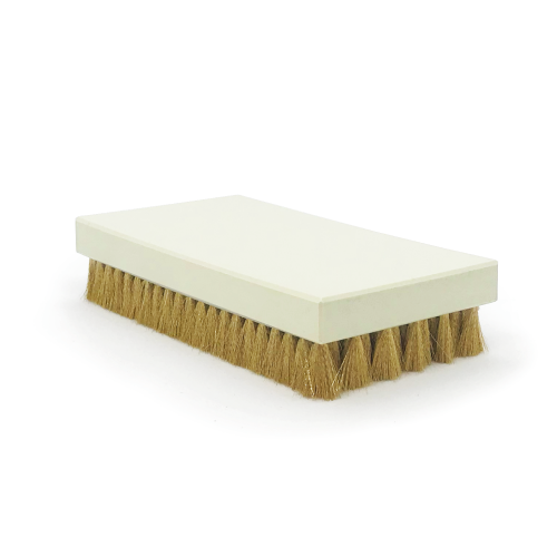 Brosse à grener rectangle laiton ondulé