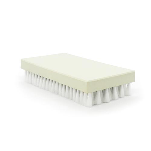 Brosse à grener ovale nylon blanc