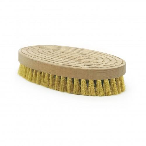 Brosse à grener ovale laiton ondulé
