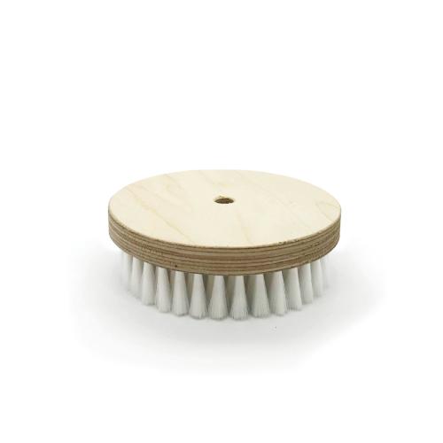 Brosse à grener ronde nylon blanc
