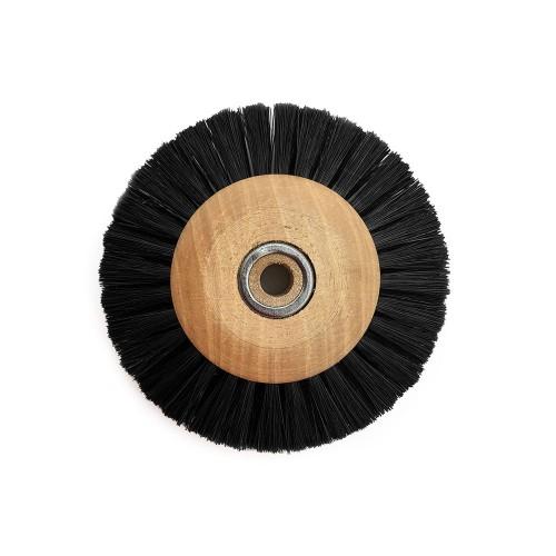 Circular brush black silk 60 mm wood frame