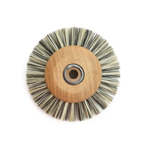 Circular brush viscose 60 mm wood frame