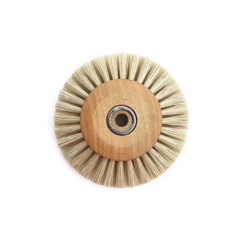 Circular brush white silk 50 mm wood frame