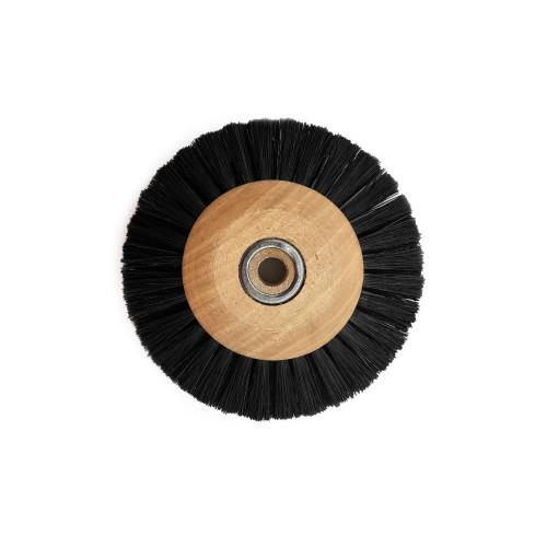 Circular brush black silk 50 mm wood frame
