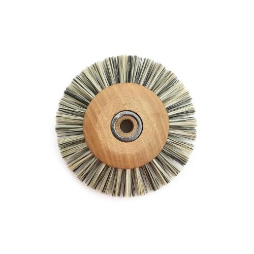 Circular brush viscose 50 mm wood frame