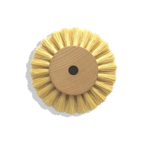 Circulaire soie blanche 80 mm monture bois