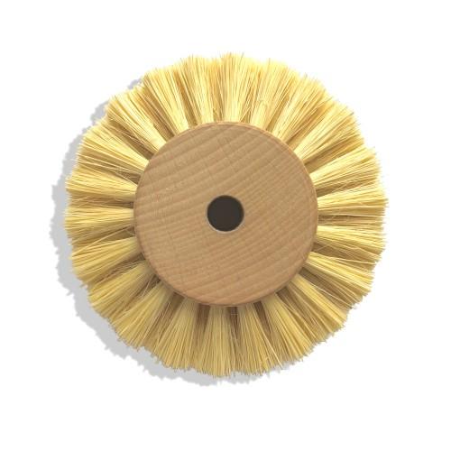 Circulaire soie blanche 90 mm monture bois