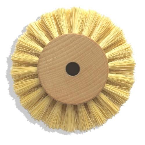 Circulaire soie blanche 100 mm monture bois