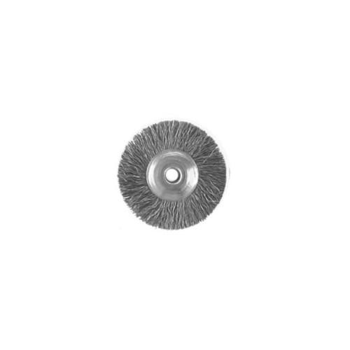 Brosse circulaire acier sur tige 2.34