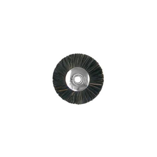 Brosse circulaire crin noir mi-rude sur tige 2.34