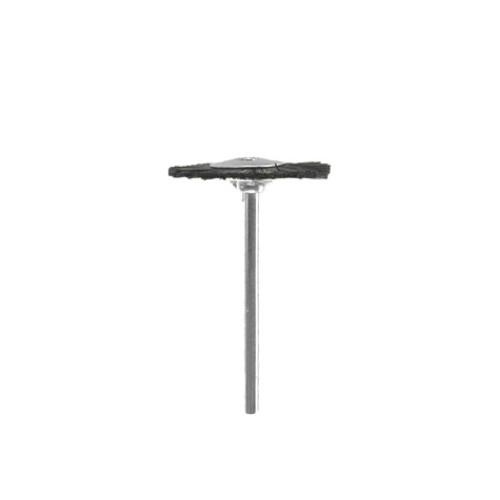 Brosse circulaire Soie Noire rude 22 mm tige 2.34